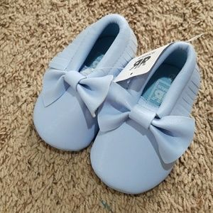 Other - Baby girl's moccasins shoes blue 6-12M 4c